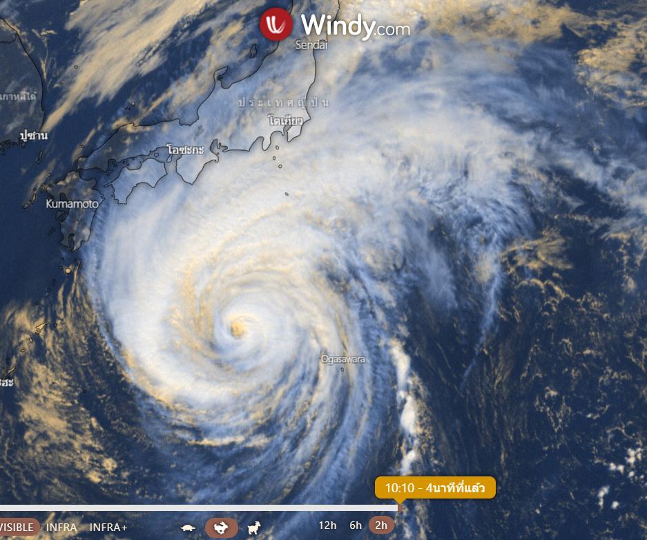 ภาพถ่ายดาวเทียมพายุซูเปอร์ไต้ฝุ่นฮากิบิส